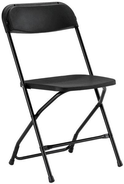Chairs, Folding, Black