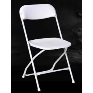 Chairs, Folding, White