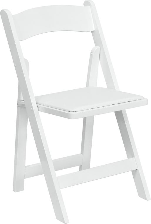Chairs, White Wooden Padded