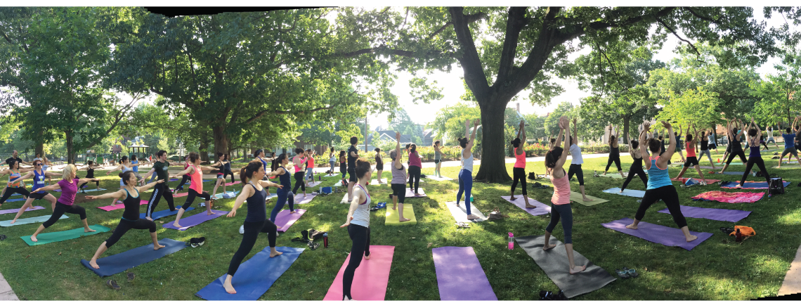 Yoga in the Park at Winthrop Square with Coolidge Yoga