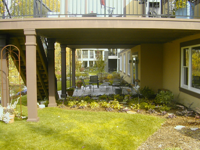 professionally landscaped patio