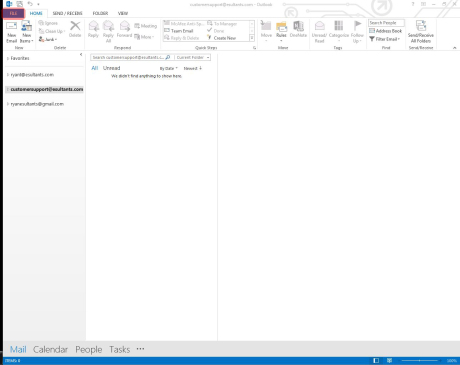 Outlook email setup 1