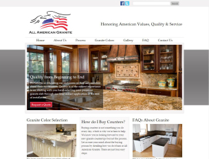 All American Granite website
