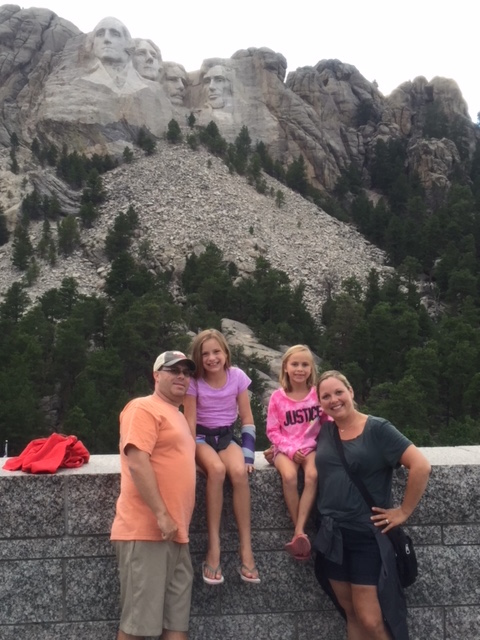 Carly traveling with family