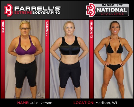 Julie Iverson; Farrell's 2016 Female National Challenge Winner