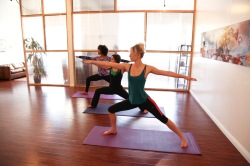 Yoga Class in Session at Namaste Highland Park