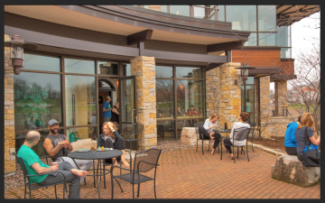 Patio Area at Perennial in Fitchburg, WI