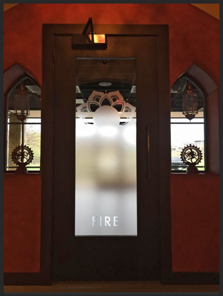 Entrance to the Fire Studio at Perennial in Fitchburg, WI