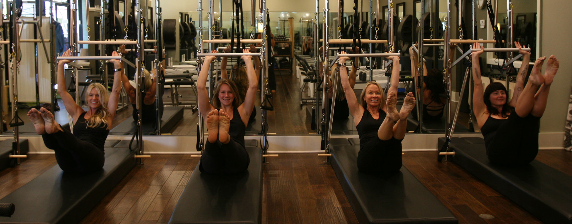 Pilates Reformer class at Pilates Napa Valley