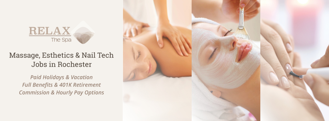 spa careers rochester - massage facials and nail tech jobs