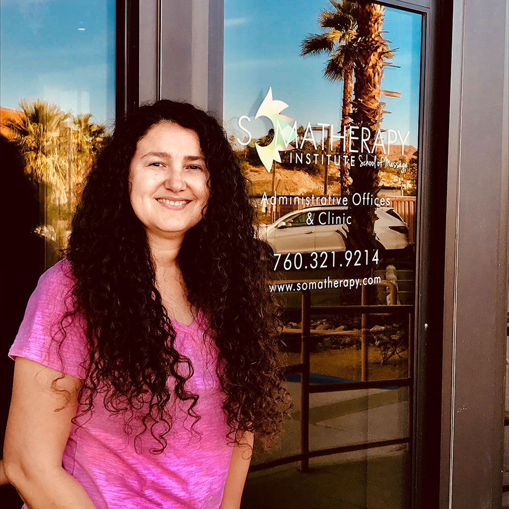 Isabella Godina at Somatherapy Institute School of Massage