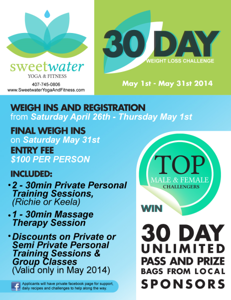 30 day weight loss challenge may 1st may 31st 2014 for Weight loss challenge flyer template