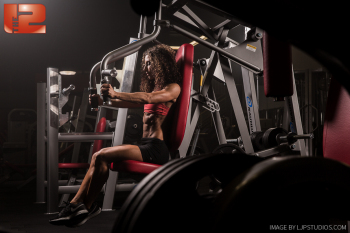 Woman with Gym Equipment at The 12 in Orange County, CA