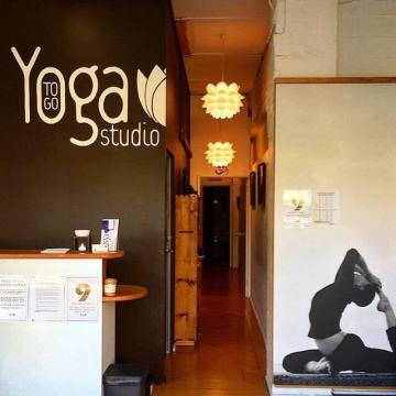 yoga studio at Yoga To Go Studio