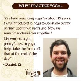 Testimonial at Yoga To Go Studio